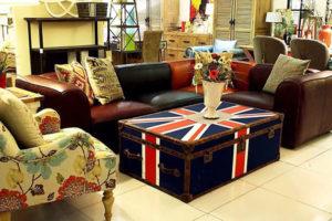 vintage leather Section sofa set